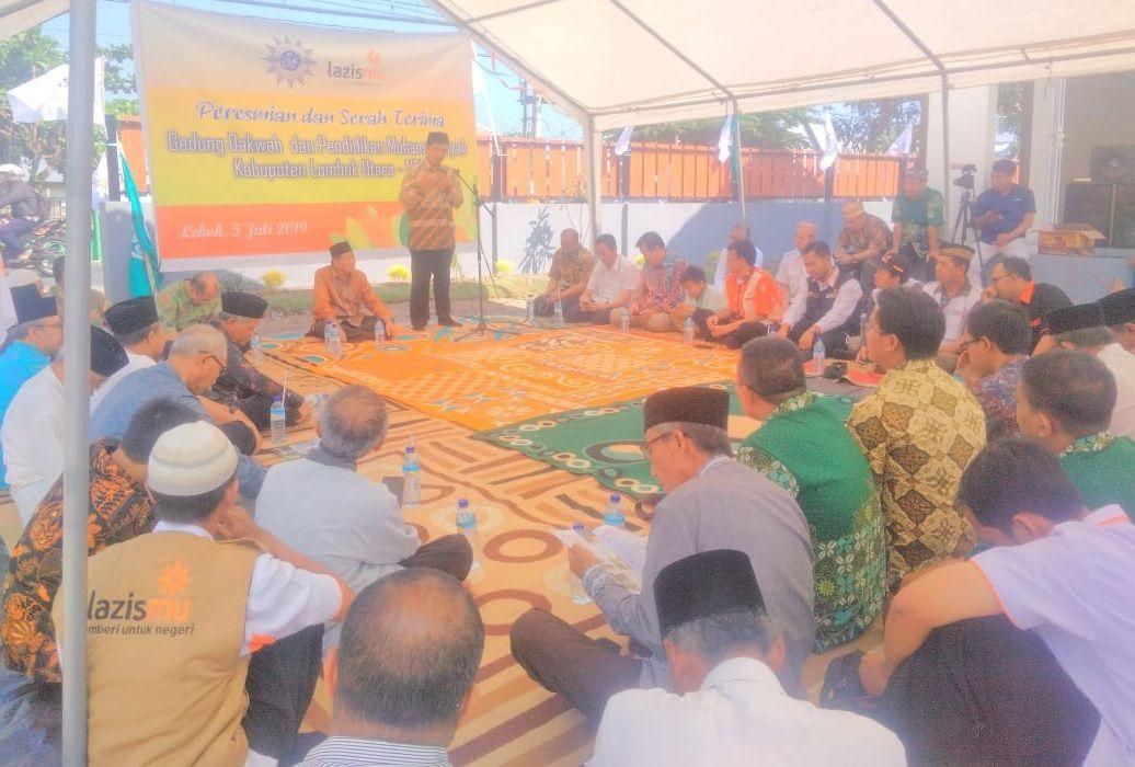 Cover Aktivitas Terpusat, PWM Jatim Meresmikan dan Serah Terima GDM ke PWM NTB